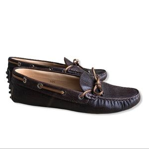 Tod's | Gommino Driving Shoe Leather Brown Reptile